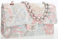 Chanel Pink Floral Boucle Medium 2.55 Double Flap Bag