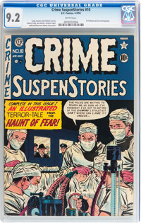 Crime SuspenStories #10 (EC, 1952) CGC NM- 9.2 White pages