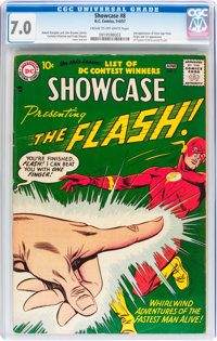 Showcase #8 The Flash (DC, 1957) CGC FN/VF 7.0 Cream to off-white pages