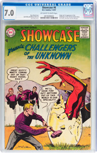 Showcase #6 Challengers of the Unknown (DC, 1957) CGC FN/VF 7.0 Off-white to white pages