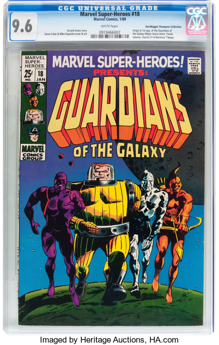 Marvel Super-Heroes #18 Guardians of the Galaxy - Don/Maggie Thompson Collection pedigree (Marvel, 1969) CGC NM+ 9.6 White pag...