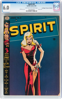 The Spirit #22 Don/Maggie Thompson Collection pedigree (Quality, 1950) CGC FN 6.0 Light tan to off-white pages