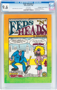 Feds 'N Heads #1 First Printing - Don/Maggie Thompson Collection pedigree (Gilbert Shelton, 1968) CGC NM+ 9.6 White page...