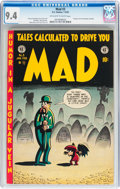 Golden Age (1938-1955):Humor, Mad #3 (EC, 1953) CGC NM 9.4 Off-white to white pages....