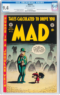 Mad #3 (EC, 1953) CGC NM 9.4 Off-white to white pages