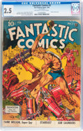 Golden Age (1938-1955):Superhero, Fantastic Comics #3 (Fox, 1940) CGC GD+ 2.5 Off-white to white pages....