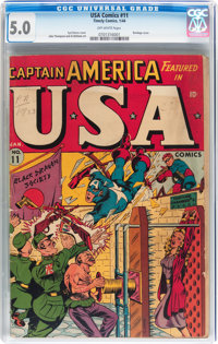 USA Comics #11 (Timely, 1944) CGC VG/FN 5.0 Off-white pages