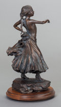 Fine Art - Sculpture, American:Contemporary (1950 to present), GLENNA GOODACRE (American, b. 1939). Senonta Flores, 1995.Bronze with brown patina. 12 inches (30.5 cm) high on 1 inch ...