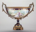 Decorative Arts, French:Other , A SÈVRES-STYLE PORCELAIN CENTER BOWL WITH GILT BRONZE MOUNTS, circa 1900. Marks: C. See. 16 x 20 x 9-1/2 inches (40.6 x ...