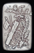 Silver Smalls:Match Safes, AN AMERICAN SILVER AND SILVER GILT MATCH SAFE, Gorham ManufacturingCo., Providence, Rhode Island, circa 1899. Marks: (lion-...