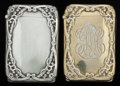 Silver Smalls:Match Safes, TWO AMERICAN SILVER AND SILVER GILT HIDDEN PHOTO MATCH SAFES,Battin & Co., Newark, New Jersey, circa 1886. Marks:(trident)... (Total: 2 Items)