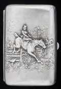 Silver Smalls:Cigarette Cases, AN AMERICAN SILVER AND SILVER GILT CIGARETTE CASE, Unger Bros.,Newark, New Jersey, circa 1900. Marks: UB (conjoined), ...