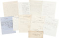 Autographs:Military Figures, Group of Nine Union Documents.... (Total: 9 )