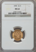 Liberty Quarter Eagles: , 1890 $2 1/2 MS62 NGC. NGC Census: (45/40). PCGS Population (42/59). Mintage: 8,720. Numismedia Wsl. Price for problem free ...