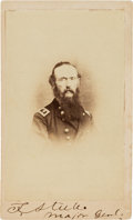Photography:CDVs, General Frederick Steele Carte de Visite Signed....