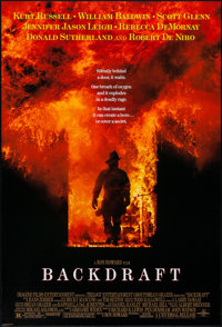 "Backdraft & Other Lot (Universal, 1991). One Sheets (2) (26.75"" X 39.5"" & 26.75"" X 39.75"") D..."