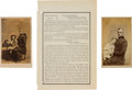 Photography:CDVs, Robert Anderson: Two Cartes de Visite, One Signed, and a Copy of General Orders, No. 73. ... (Total: 3 )