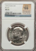 Kennedy Half Dollars, 1974-D 50C Double Die Obverse MS65 NGC. FS-101. Rank #88 of the 100Greatest U.S. Modern Coins; 1st Edition. NGC Census: (...