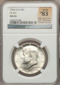 Kennedy Half Dollars, 1964-D/D 50C MS65 NGC. FS-501. Rank #83 of the 100 Greatest U.S.Modern Coins; 1st Edition. PCGS Pop...