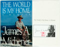 Books:Biography & Memoir, James A. Michener. SIGNED. The World is My Home. New York:Random House, [1992]. First edition, first printing. Si...