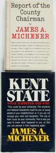 Books:Americana & American History, James A. Michener. SIGNED. Report of the County Chairman[and:] Kent State. New York: Random House, [1961, 1...(Total: 2 Items)