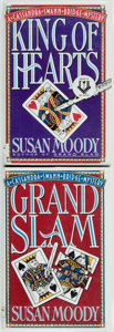 Books:Mystery & Detective Fiction, Susan Moody. SIGNED. King of Hearts. New York: Scribner,[1995] [and:] Grand Slam. New York: Otto Penzler Bo...(Total: 2 Items)