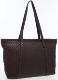 Luxury Accessories:Bags, Bottega Veneta Chocolate Intrecciato Nappa Leather Tote Bag with Long Handles. ...