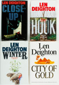 Books:Mystery & Detective Fiction, Len Deighton. Hook, Close Up, Winter [and:] City ofGold. Various publishers and dates. First editions, firs...(Total: 4 Items)