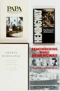 Books:Books about Books, [Ernest Hemingway]. Group of Four Books about ErnestHemingway. Includes a comprehensive bibliography (hardcover)an... (Total: 4 Items)