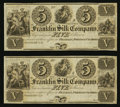 Obsoletes By State:Ohio, Franklin, OH- Franklin Silk Company $5 18__ Two Examples. ...(Total: 2 notes)