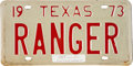 Transportation:Automotive, Personalized 1973 Texas License Plate Belonging to Lone Wolf Gonzaullas....