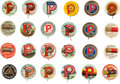 Advertising:Pocket Mirrors & Pinbacks, Choice Group of 24 Peters Cartridge Shells Advertising Pinbacks....
