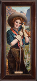 "Advertising:Signs, Hopkins & Allen ""Prairie Girl"" Lithograph Advertising Poster...."