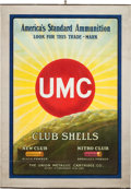 Advertising:Signs, Brightly Colored UMC Union Metallic Cartridge Co. Ammo Poster, ca.1908....
