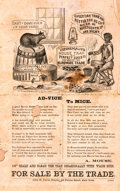 "Miscellaneous:Broadside, [Americana, Broadside]. Early American Broadside Advertising the""Catchemalive Mousetrap."" N.d., ca. 1870s. Verso advertises..."