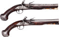 Handguns:Muzzle loading, Fine Pair of English Flintlock Pistols by Drew.... (Total: 2 Items)