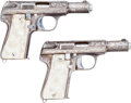 Handguns:Semiautomatic Pistol, Scarce Pair of Astra Model 300 Semi-Auto Pistols. ... (Total: 2Items)