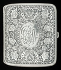Silver Smalls:Cigarette Cases, AN AMERICAN SILVER AND SILVER GILT CIGARETTE CASE, R. Blackinton& Co., North Attleboro, Massachusetts, circa 1900. Marks:...