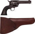 Handguns:Single Action Revolver, Colt Single Action Revolver and Leather Flap Holster....