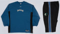 Basketball Collectibles:Uniforms, 2002-03 Marc Jackson Game Worn Minnesota Timberwolves Warmup Jerseyand Pants....