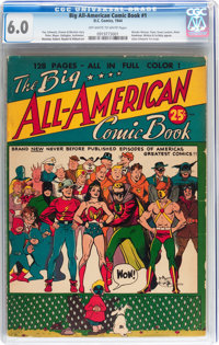Big All-American Comic Book #1 (DC, 1944) CGC FN 6.0 Off-white to white pages