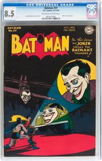 Batman #37 (DC, 1946) CGC VF+ 8.5 Off-white to white pages