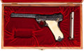 Handguns:Semiautomatic Pistol, Cased and Custom Engraved Luger Semi-Automatic Pistol....
