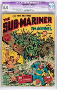 Sub-Mariner Comics #1 (Timely, 1941) CGC Apparent VG 4.0 Slight (A) Light tan to off-white pages