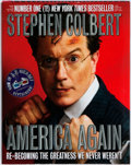 Books:Americana & American History, Stephen Colbert. America Again. [New York]: Grand CentralPublishing, 2012]. First edition, first printing. 3D glass...