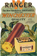 Advertising:Signs, Winchester Ranger Cartridge Shell Diecut Advertising Sign,Illustrated by Lynn Bogue Hunt....