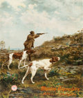 "Advertising:Signs, Marlin Firearms 1908 Poster "" Quail Shooting in England.""..."