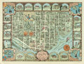 Books:Maps & Atlases, [Maps]. Pictorial Road Map of Beaufort, South Carolina. Map charmingly depicts buildings as well as roads, and has an attrac...