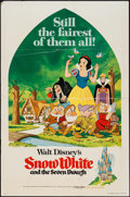 "Movie Posters:Animation, Snow White and the Seven Dwarfs & Others Lot (Buena Vista,R-1975). One Sheets (10) (27"" X 41""). Animation.. ... (Total: 10Items)"