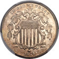 Shield Nickels, 1874 5C MS66 PCGS. CAC....